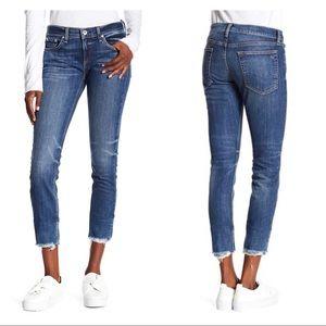 Rag & Bone Dre Frayed Hem Skinny Ankle Jeans 26